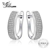 set 925 ohrringe echtes sterling groihandel-JewelryPalace 0.5ct Anniversary Channel Set Eternity Clip Earrings Real 925 Sterling Silver Jewelry For Women On SaleY1882503