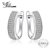 yıldönümü hediyesi için mücevherat toptan satış-Jewelrypalace 0.5ct yıldönümü kanal seti sonsuzluk klip küpe gerçek 925 ayar gümüş takı on sale üzerinde kadınlar için y1882503