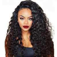 Wholesale human hair wigs dark brown for sale - Premier Lace Wigs Glueless Lace Front Wigs Brazilian Remy Human Hair Density Natural Hairline Loose Wave Lace Wig For American