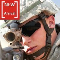 armee militärische rahmen großhandel-Army Kugelsichere Sonnenbrille, Cross Bow Polarisierende Militär Hellfly Ballistic Sonnenbrille mit austauschbarer Linse Myopie Rahmen innen