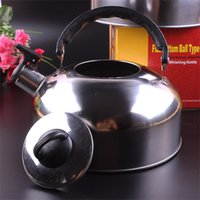 Wholesale kettle kitchen for sale - Group buy 4L Flat Bottom Kettle Kitchen Accessories Stainless Steel Teapot Portable Water Bottles Hiking Picnic Supplies High Grade jr Ww