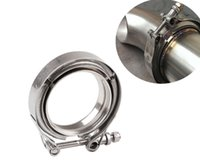 Wholesale v band clamps for sale - Group buy 2 quot quot quot quot quot Hotsale Silver Stainless Steel Car Auto Universal V Band Clamp V Band Flange Clamp Elbow Kit Fit For VW Audi Honda Toyota