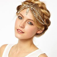Wholesale hair headbands for cheap - Cheap Gold Bridal Hair Rhinestone Weeding Hair Jewelry Rhinestone Fashion Hair Accessories Headband Rhinestone Gold Jewelry for Bride