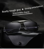 Wholesale driver hd - brand Rectangle Polarized Sunglasses Men Women Double Alloy Frame Outdoor Driver Sun Glasses Mens UV400 HD Retro Sunglasses Dropshping