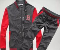 moda coreana con capucha envío gratis al por mayor-¡Envío al por mayor-libre! New Fashion Mens Sport Sets Sudaderas Sudaderas / Sudaderas y Pantalones