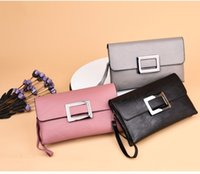 korean dressing style female NZ - Europe and the United States tide big long wallet female leather 2018 new Japanese and Korean version of temperament OL fashion wild leather