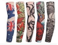 Wholesale Tattoo Sun Sleeves - Personality outdoor tattoo sleeve tattoo arm with large arms and arms, sun protection uv cycling sleeve