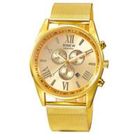 Wholesale xinew watches online - XINEW Men s Multifunction Watches Luxury Stainless Steel Band Quartz Watch Men Roman Numerals Wrist Watches Relogio LH