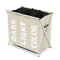Wholesale basket bamboo - Hot Basket Washing Sort Laundry Hamper Foldable Organiser Clothes Storage Large Basket For Washing Dirty Clothes Sundries Box