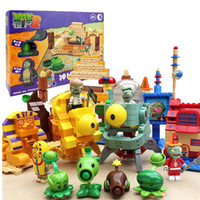 ingrosso pianta zombie-Building Blocks Minifigures Azione gioco caldo Plants vs Zombies PVZ può luach Bambini Christmas hoilday Regalo Giocattoli fai da te 6 Modle scegliere
