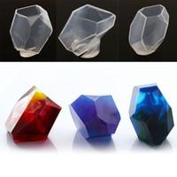 ingrosso ornamenti diy crafts-Muffa geometrica della resina del silicone per l'attrezzo Handmade del mestiere della muffa dell'ornamento dei gioielli di DIY