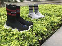 Wholesale Black Half Socks - VETEMENTS SS CREW UNISES Sock Trainer Dropping RUNNING Shoes CN3307 Socks Trainer Boots Left Right Unisex Casual Flat Socks Slip-on Boots