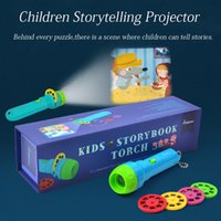 Wholesale baby lights projector for sale - Group buy Children Storytelling Projector flashlight Classic Infant Baby Flashlight Projection Baby Kids Lighting Storybook Torch Toys DX119
