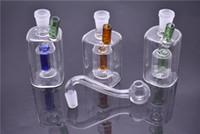 ingrosso tubi per fumatori singoli-Colorful interno single core 10mm femmina Joint bong mini vetro rig tubo di vetro Vetro smussato Bubbler fumo vetro bong per tubo dell'acqua