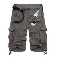 Wholesale military army camouflage shorts - Mens Military Cargo Shorts 2018 Hot New Army Camouflage Tactical Shorts Men Cotton Loose Work Casual Short Pants Plus Size