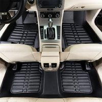 fußmatten bmw großhandel-Universal-5Pcs Auto Fußmatten für Auto-Anti-Rutsch-Matte Rot-Schwarz-Auto Styling Interieur Auto Auto Boden Fußmatte fit für Honda Toyota bmw