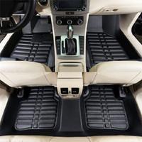 Wholesale black car floor mats resale online - Universal Car Floor Mats For Auto Anti Slip Mat Red Black Car Styling Interior Auto car floor Foot mat fit For Honda toyota bmw