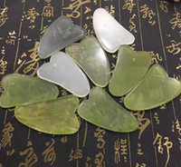 Wholesale jade stones sold for sale - Hot Selling Natural Jade Board Green Jade Stone Cure Massage Tool Body Face Relaxation Beauty Health Care Tool