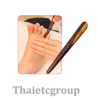 Wholesale Wooden Massager - [Healthy Life] Reflexology Health Thai Foot Massage Wooden Stick Tool Free Shipping With Chart X 1pc