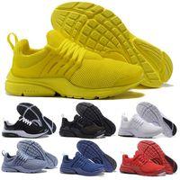 Wholesale breathe sports - New PRESTO BR QS Breathe Yellow Black White Mens prestos Shoes Sneakers Women Running Shoes Men Sports Shoe run trainer designer shoes
