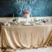 düğün dekorasyonları masa örtüleri toptan satış-3 M sıcak satmak Masa örtüsü için Kare Masa Örtüsü uzun Düğün Parti Dekorasyon Masaları sequins Masa Giyim Düğün Masa Örtüsü Ev Tekstili