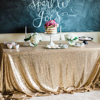 Wholesale home girls party new - 3M hot sell Table cloth Square Table Cover long for Wedding Party Decoration Tables sequins Table Clothing Wedding Tablecloth Home Textile