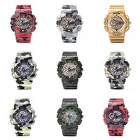 Wholesale men army watch digital for sale - Camouflage Multi Function Men Boy Electronics Digital Watch Water Shock Proof Military Motion Outdoors Sports Wristwatch LED Gift ls bb