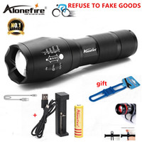 Wholesale work bicycle - AloneFire E17 G700 XM-L T6 5000LM Bicycle Zoomable CREE LED Flashlight Torch Bike light lamp for 18650 Rechargeable Battery AAA