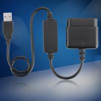 ingrosso controller usb per ps2-Da PS2 a PS3 Controller da gioco Joystick per adattatore convertitore USB per PlayStation2