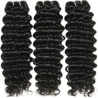weave hair online al por mayor-dubai compras en línea increíble !!! 8A MalaysianTight Curl Remy Hair Weave, doble trama 100% sin procesar extensión de cabello humano