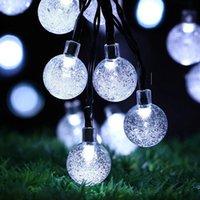 dış mekan yılbaşı dekorasyonları güneş aydınlatma toptan satış-Güneş Enerjili 30 LED Dize Işık Bahçe Yolu Yard Dekor Açık festivali Lamba Noel Ağacı Süslemeleri Parti Yard Dekorları