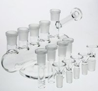 Wholesale recycle designs - new Design Glass Water Pipes Matched Five Dowmstem Five Bowls Inline Hookahs enjoyment Perc Recycle Oil Rigs Glass Bong Water Pipes