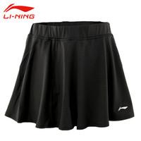 camisa de badminton venda por atacado-Atacado-Mulheres Badminton Saias Li Ning Microfibra Spandex Jersey Sólida Respirável Quick Dry Fit Esporte Formação Saias ASKK162