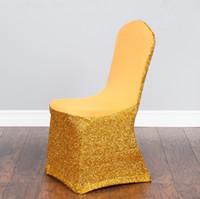 красочные чехлы стульев оптовых-Мода спандекс чехлы на стулья Pseudoodle чехлы на сиденья красочные и настраиваемые свадьба общий стул крышка WT074