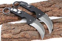 Wholesale cold steel knife for hiking resale online - newer cold steel CA93003 Sand light with drawing claw Camping Survival Folding Knife Xmas Gift Knife for man freeshipping