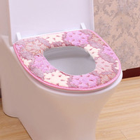 Wholesale Heat Toilet - Hot sell Sticky Toilet Mat Soft Warm Toilet Seat Heated Closestool Pad Washable Toilet Seat Cover