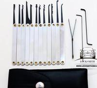 goso key set achat en gros de-Serrurier Outils Verrouiller Choix GOSO 12pcs Crochet Choisis Titane Verrouiller Choix Définit Broken Key Tools Livraison Gratuite