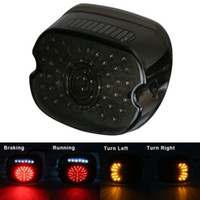 Wholesale light touring motorcycle resale online - Black Motorcycle LED Brake Light Stop Tail Light For Harley Sportster XL Touring Softail Dyna Electra Glide Taillight