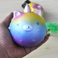 Wholesale Pressure Direct - Rainbow Color Unicorn Squishy Squeeze Slow Rebound Reduce Pressure Toys Elastic Soft Squishies Factory Direct Sale 14bba B