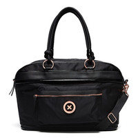 розовый нейлоновый мешок оптовых-MIMCO женская мода splendiosa weekender сумка черная роза золотой тон логотип нейлон weekender сумка