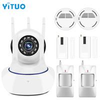 ingrosso sistema di telecamera porta wireless-YITUO Wireless per porte e finestre PIR wifi 720P IP Camera per sistema di allarme di sicurezza domestica Kit Wifi 1.0mp Telecamera di sorveglianza