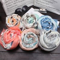 Wholesale wholesale linen summer scarves - Women Cotton And Linen Scarf Summer Designer Silk Brand Luxery Scarves Print Fashion Shawl Rectangle Leaves Soft 13 5ly hh
