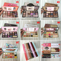 Wholesale free white eyeshadow for sale - Group buy Too Face Chocolate Bar Eyeshadow Semi sweet Sweet Peach Bon Bons Palette Color White Eye Shadow Gold Palettes