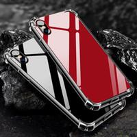 fundas de iphone lindo al por mayor-Espejo de lujo Cojín de aire Reflect Girly Cute Anti Shock Suave TPU Bumper + Acrílico Volver Funda dura para iPhone XS Max XR X 8 Plus 7 6 6S