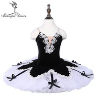 black white ballerina Canada - kids black white ballerina tutu dress girls harlequin 7layers of hard tulle performance ballet tutu dress18009