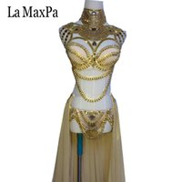 ingrosso zebra sexy del costume-La MaxPa 2017 nuovo arrivo sexy femminile cantante costume dj ds regioni occidentali stile donne costume di scena argento oro vestito da ballo