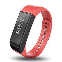 ingrosso track dhl-I5 Plus Bluetooth Smart Sport Bracciale Wireless Fitness Pedometro Activity Tracker con passi Counter Monitoraggio del sonno Calorie Tracciamento DHL
