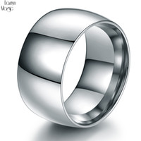 Wholesale wide wedding bands for women for sale - Group buy 316L Stainless Steel Wide Band Rings Wide mm Men Jewelry Black Arc Rings Fine Jewelry Wedding For Women