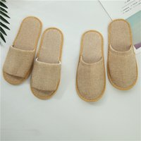 Wholesale disposables hotel slippers for sale - Group buy Brown Massage Babouche Business Travel Portable Home Based Disposable Slippers Comfortable Soft Baboosh For Hotel Supplies New ty ZZ