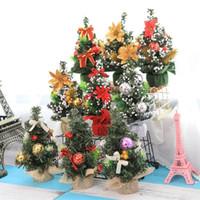 pazarlama evleri toptan satış-Merry Christmas Yapay Ağaç Mini Market Masaüstü Süsler DIY Ev Dekorasyonu El Sanatları Hediye Çam Ağaçları Parti Malzemeleri 4 4yw bb